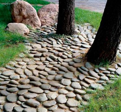 Как сделать дорожку из камней