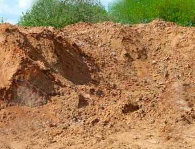 Пескогрунт с глиной
