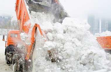 Вывоз и уборка снега в городе