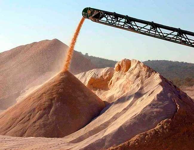 Песок с карьера в Спб