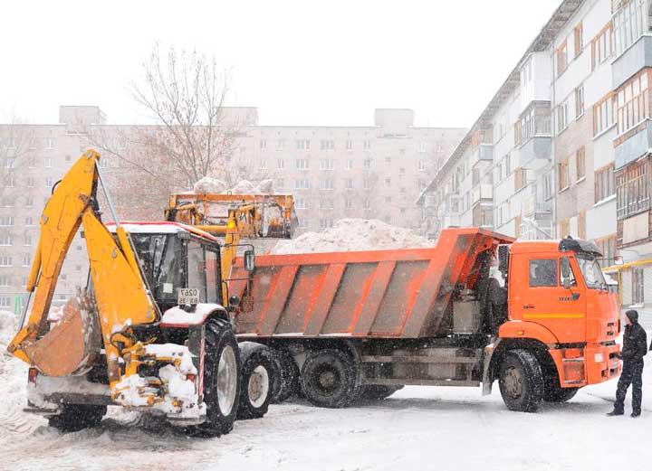 Как погрузить и вывезти снег